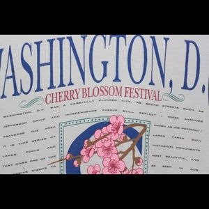 Vintage Shirts - Vtg 90s WASHINGTON CHERRY BLOSSOM Festival t shirt